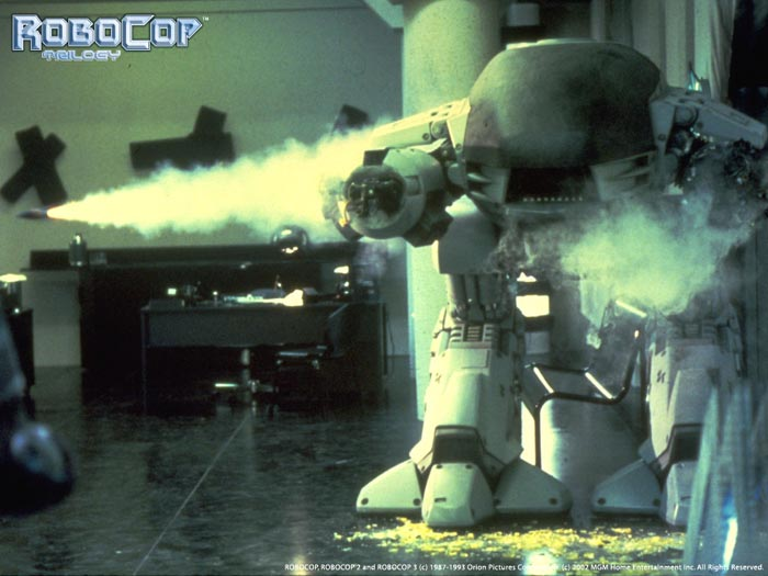 Guns and weapons in RoboCop
